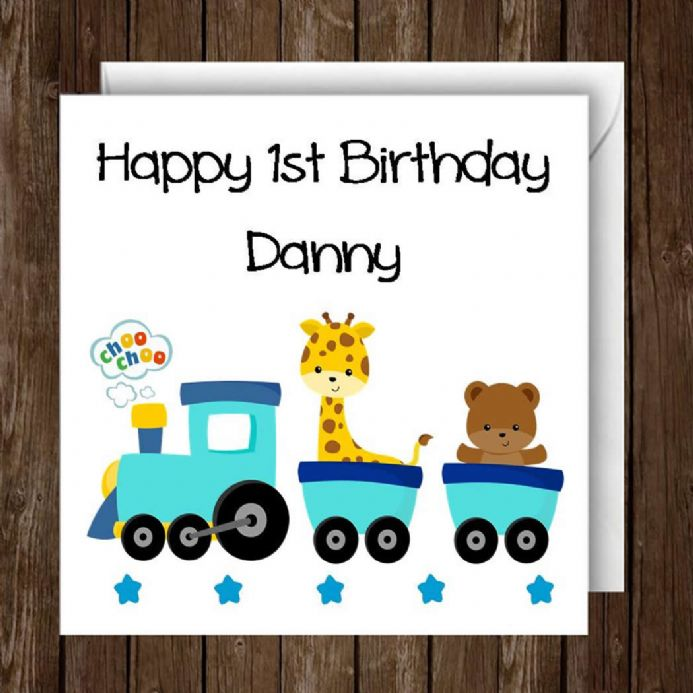 Personalised Boys Birthday Card